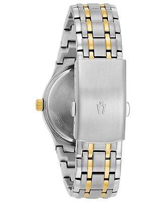 Bulova Men's 98C60 Quartz Champagne Dial Two-Tone Bracelet 36mm Watch 3
