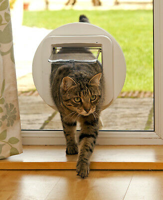 SureFlap Cat Flap Mounting Adaptor Suitable for Glass Doors Wall White