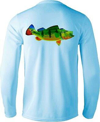 Seafoam Long Sleeve Microfiber UPF Bimini Big Game Fishing Shirt