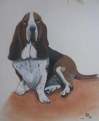 "C131         Original Acrylic Painting By Ljh         ""Scaredy Cat"" 12"