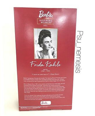 ❤ Frida Kahlo Mattel Barbie Doll Inspiring Women Series Mexican Artist IN STOCK❤ 4