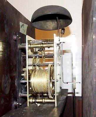 ~ Antique Oak & Mahogany Grandfather Longcase Clock BENJAMIN PEERS CHESTER 11
