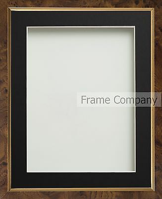 Black Gold Walnut Effect Picture Photo Frames With Choice Of Mount