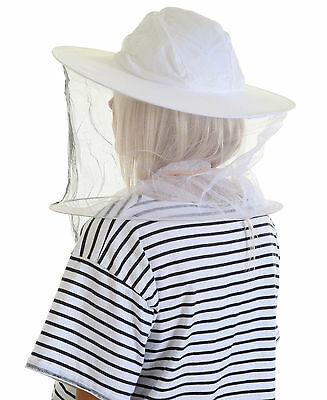 [UK] 2 x Beekeeping White cotton bee hat and Veils with TOGGLE
