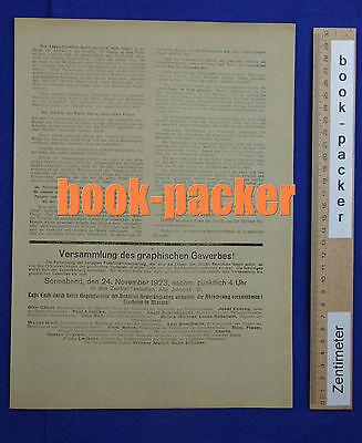 Original Flugblatt aus dem Arbeitskampf im graphischen Gewerbe Berlin 1923 [#5] 2