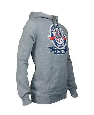 Lonsdale CHADWICK Union Jack Target Hooded Sweatshirt Hoodie Black Grey Slim-Fit