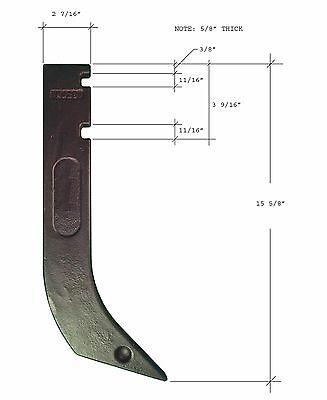 5 - GANNON Scraper Box Blade Scarifier Shanks - H920