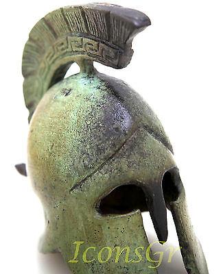 Ancient Greek Bronze Museum Replica Of Athenian Helmet (1389) 3
