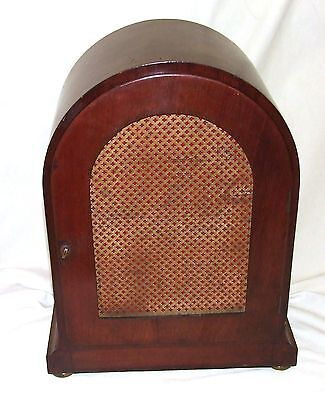 W & H Winterhald Antique Inlaid Mahogany Bracket Mantel Clock RUSSELLS LIVERPOOL 9