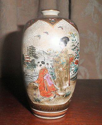 RARE STUNNING ANTIQUE JAPANESE SATSUMA MEJI PERIOD c. 1800's VASE 12