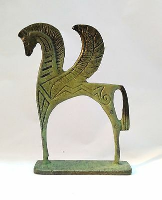 Ancient Greek Bronze Museum Statue Replica of Pegasus Flying Horse Collectable