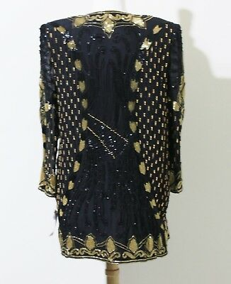 Jasdee Vintage Jacket Hand Work Bead & Sequin On Silk Style 3011 2