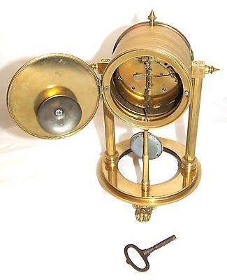 French Antique VINCENTI & CIE Drum Head Brass Striking Bracket Mantel Clock 11