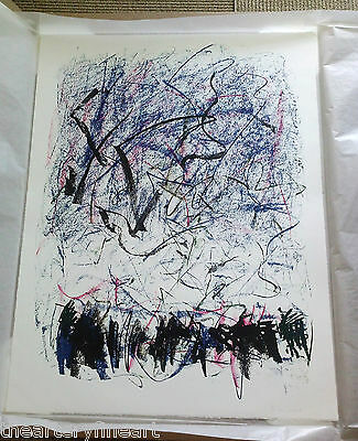 JOAN MITCHELL 'Bedford III' 1981 SIGNED Lithograph Limited Edition Print Framed 2