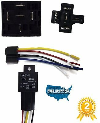20 SETS Automotive Relay + 5 Wire Harness Socket Car Vehicle 12V 30/40 AMP SPDT 3