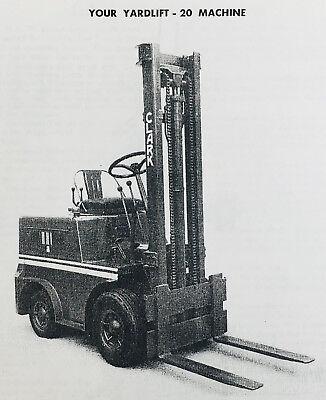 CLARK YARDLIFT 20 Forklift Service Repair Shop Parts Manuals Catalog  Maintenance