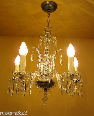 Vintage Lighting antique 1930s Art Deco crystal chandelier   High Quality 2