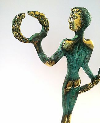 Ancient Greek Bronze Museum Statue Replica Of Olympic Games Winner Collectable 9