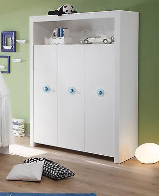 KLEIDERSCHRANK WEIß 3 türig Kinder Baby Zimmer Schrank Möbel Olivia ...