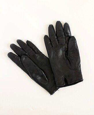 MCM Munchen black leather suede gloves Medium 3