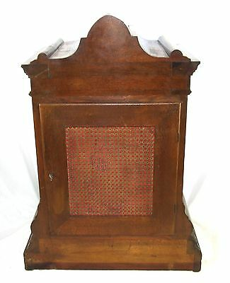 Winterhalder W & H Antique Mahogany TING TANG Bracket Mantel Clock CLEAN SERVICE 10