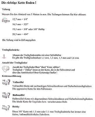 Sägekette 30 cm 3//8 x 1,3 45 Treibglieder für Kettensäge Steinmax
