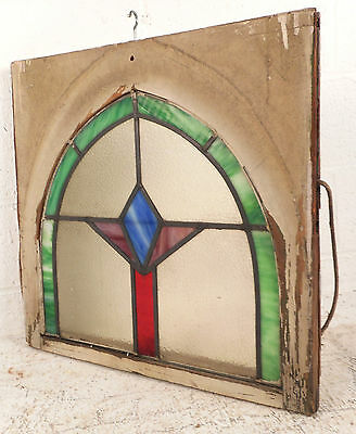 Vintage Art Deco Stained Glass Window Panel (3168)NJ 2