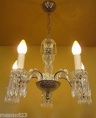 Vintage Lighting 1940s crystal chandelier 2
