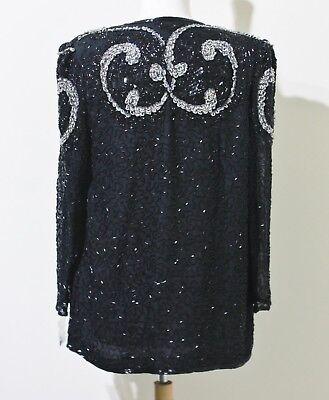 """Jasdee Vintage Jacket Length 28"""" Long Sleeve HandWork Bead&Sequins On Silk #1171 2"""