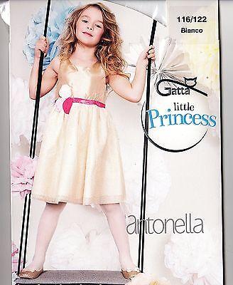 KOMMUNION festliche glatte Mädchen Strumpfhose weiß glatt Blumenmädchen Gatta 3