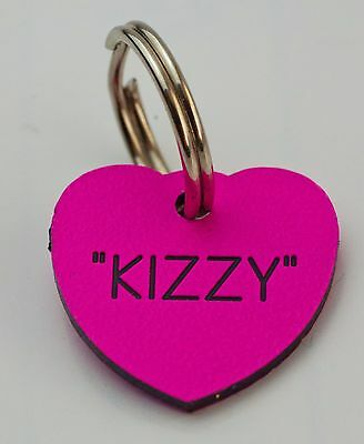 Quality Engraved Pet tag - Mini  20mm Heart acrylic 6 couloirs 3