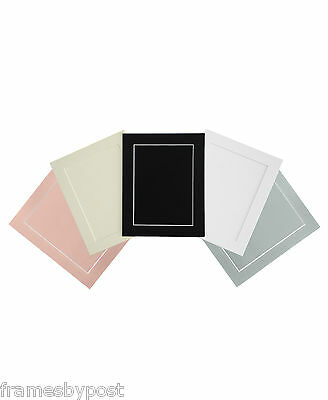 PACK OF 5 Acid Free White Bevel Mount & White Backing Board In A Range Of Sizes 3