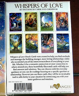 NEW Whispers of Love Oracle Cards Tarot Angela Hartfield Josephine Wall psychic 2