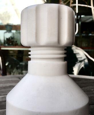 Labor - schwere, massive Flasche aus TEFLON mit Schraubverschluß - Selten!! 12