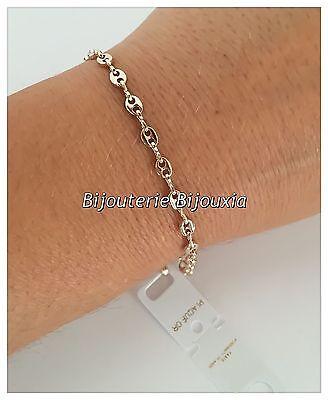 6f7381e13f4f29 ... Bracelet Maille Grain De Café 18CM Plaqué or 18 CARATS 750 1000 Bijoux  Femme
