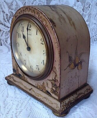 Antique Japanned Bayard D-B. 8 Day Lever Movement French Clock 5