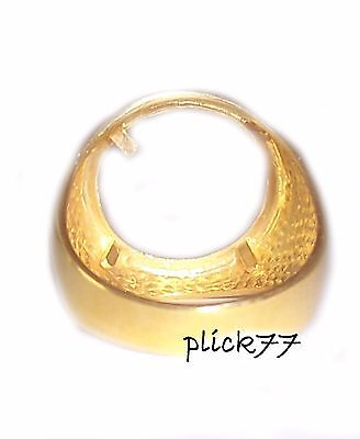 Gold Plated Coin Ring for US Dimes Mercury Dime Coin Included