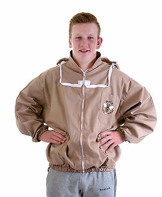 [UK] Buzz WorkWear Beekeeping Cappuccino Zip-Up Fencing Veil Jacket- select size