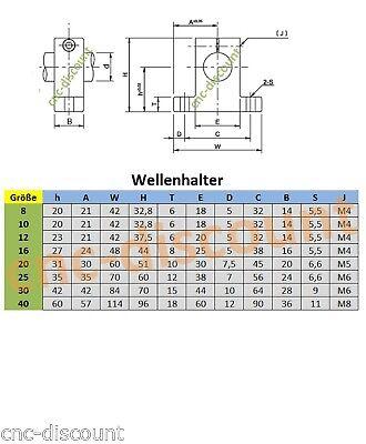 Linearführung  8x 200mm CNC Linear Guide Rail Stage 2