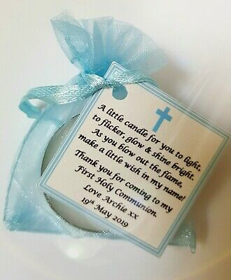 GUEST FAVOURS Christening FIRST HOLY COMMUNION CANDLE FAVOURS GIFTS Baptism