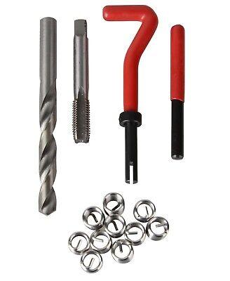 131 Piece Helicoil Type Thread Repair Kit M5 M6 M8 M10 M12 Twist Drill Bits