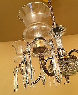 Vintage Lighting circa 1950 Colonial chandelier 6