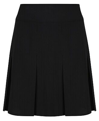 Girls Pleated School Skirt Navy Grey Black Long Short Regular Length 16 18 20 22 7