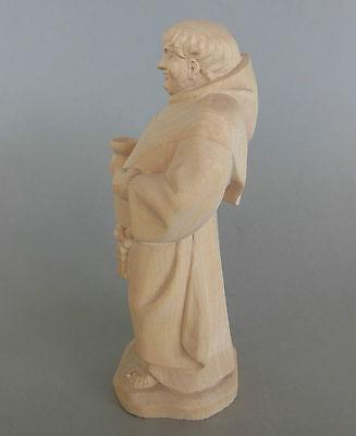 Mönch,Kellermeister ca. 17 cm hoch,Holz geschnitzt natur, Sonderpreis Farbe !! 3