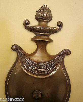 Vintage Sconces pair antique 1930s brass   High quality   Lovely details 3