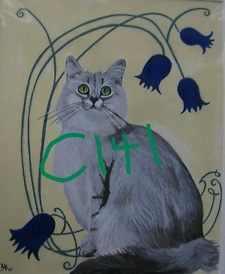 "C102  Original Acrylic Painting By Ljh    ""Tootsie""      Cat 12"