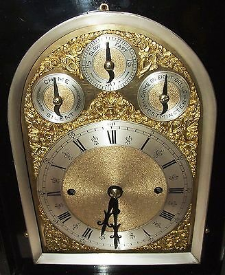 Massive Triple FUSEE Musical Mantel Bracket Clock on 8 Bells & Westminster Chime 6