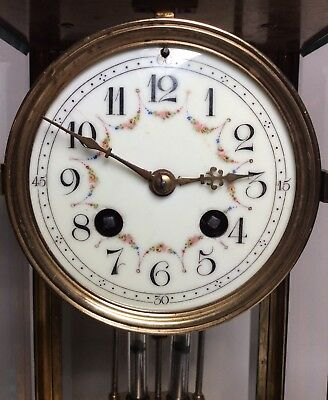 Late 19th Century French Green Onyx 4 Glass Striking Clock with Mercury Pendulum 9