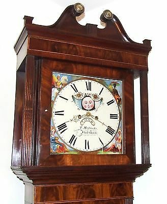 Antique Mahogany Halifax Moon Longcase Grandfather Clock : MADDOCKS FRODSHAM 2