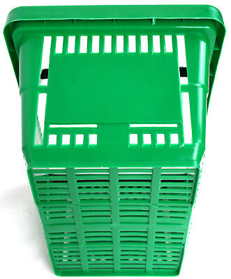 Pack of 20 x 2 Handle Green Plastic Shopping Basket Retail Supermarket Use 4